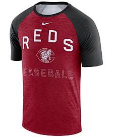Nike Men's Cincinnati Reds Dry Slub Short Sleeve Raglan T-Shirt