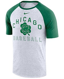 Nike Men's Chicago Cubs Dry Slub Clover Raglan T-Shirt