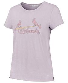 '47 Brand Women's St. Louis Cardinals Lilac Fader T-Shirt