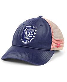 Authentic MLS Headwear San Jose Earthquakes Americana Trucker Snapback Cap