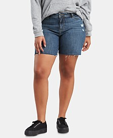 Levi's® Trendy Plus Size Raw-Hem Denim Shorts