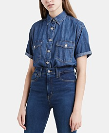 Levi's® Madison Cotton Short-Sleeve Denim Shirt