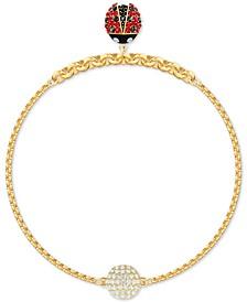 Remix Gold-Tone Crystal Ladybug Magnetic Bracelet
