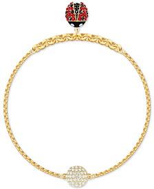 Swarovski Remix Gold-Tone Crystal Ladybug Magnetic Bracelet