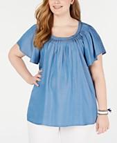 174688a2788 Plus Size Tops - Womens Plus Size Blouses   Shirts - Macy s