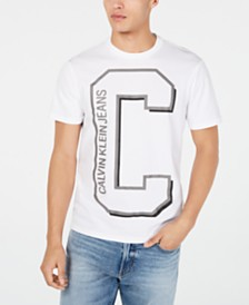 Calvin Klein Jeans Men's Large C Logo Graphic T-Shirt