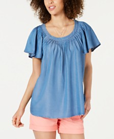 Style & Co Pleated Soft Top, Created for Macy's