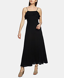 1.STATE Ruffle-Trim Maxi Dress