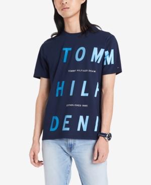 Tommy Hilfiger Denim Men's Nickerson Logo Graphic T-Shirt In Black Iris