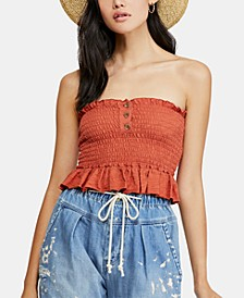 Babe Cotton Peplum Tube Top