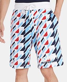 Men's Regular-Fit Geometric-Print Logo Shorts
