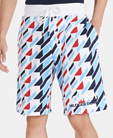 Tommy Hilfiger Denim Men's Regular-Fit Geometric-Print Logo Shorts