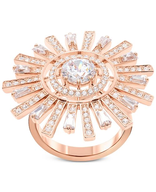 2a841556c Swarovski Rose Gold-Tone Crystal Sunshine Ring & Reviews - Fashion ...