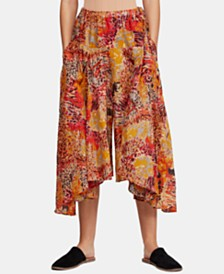 Free People Fallon Asymmetrical Cotton Wide-Leg Pants