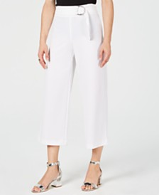 I.N.C. Petite O-Ring Culotte Pants, Created for Macy's