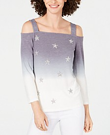 INC Cold-Shoulder Ombré Star Top, Created for Macy's