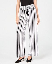INC Striped Wide-Leg Pants, Created for Macy's