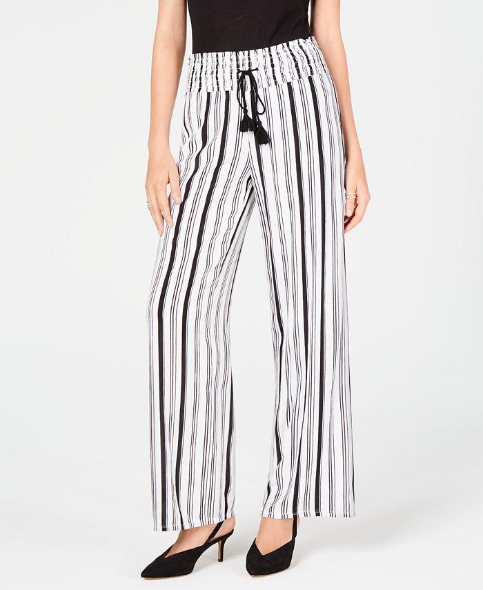 INC International Concepts - Striped Wide-Leg Pants