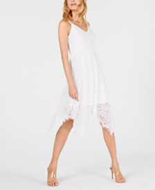I.N.C. Lace Hanky-Hem Midi Dress, Created for Macy's