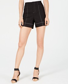 I.N.C. Contrast-Stitch Shorts, Created for Macy's
