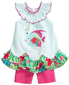 Bonnie Baby Baby Girls 2-PC. Fish Tunic & Shorts Set