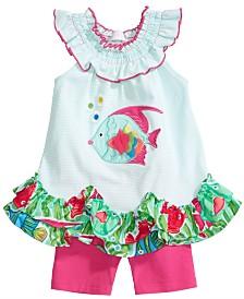 Bonnie Baby Baby Girls 2-PC. Fish Tunic & Shorts Set