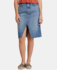 Free People Suzanne Midi Denim Skirt