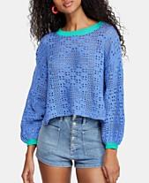 f003c44e74c Free People Home Run Cotton Crochet Sweater