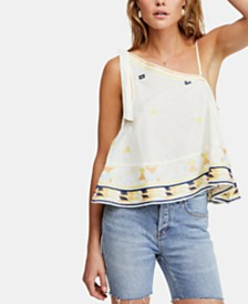 Free People Bali Baby Cotton One-Shoulder Top