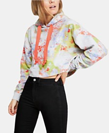 Free People Thinking About You Cropped Hoodie