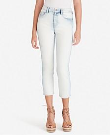 Juniors' Pick Me Up High Waist Crop Jeans