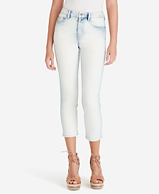 Jessica Simpson Juniors' Pick Me Up High Waist Crop Jeans