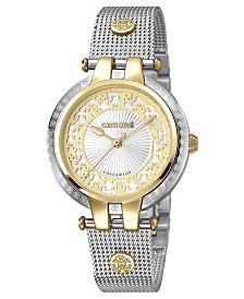 Roberto Cavalli By Franck Muller Women's Swiss Quartz Two Tone Stainless Steel Bracelet Watch, 34mm