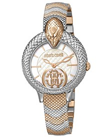 By Franck Muller Women's Swiss Quartz Mother of Pearl Dial Two-Tone Rose Gold Stainless Steel Bracelet Watch, 34mm
