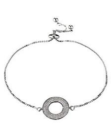 Cubic Zirconia Halo Flower Bracelet