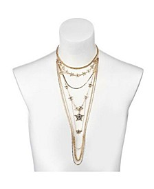 Multi-Row Star Statement Necklace