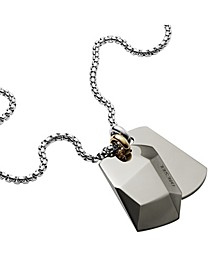 Men's Stainless Steel Double Dog Tag Necklace