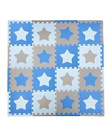 Tadpoles 16 Piece Foam Play Mat Set, Stars