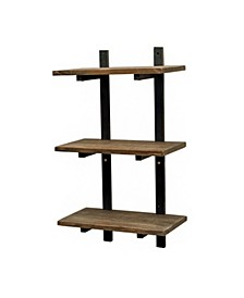 "Alaterre Pomona 36"" H Metal and Solid Wood Wall Shelf"