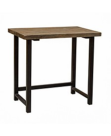 "Alaterre Pomona 32"" W Small Metal and Solid Wood Desk"