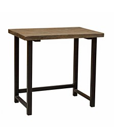 """Alaterre Pomona 32"""" W Small Metal and Solid Wood Desk"""