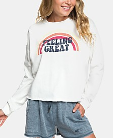 Roxy Juniors' Feeling Great Graphic-Print Sweatshirt