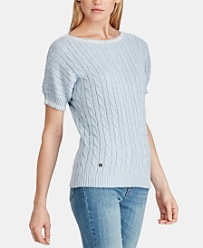 Lauren Ralph Lauren Cable-Knit Cotton Sweater