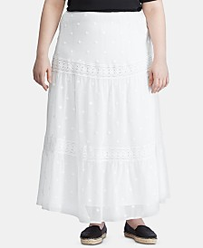 Lauren Ralph Lauren Plus Size Tiered Peasant Skirt