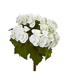 "11"" Begonia Bush Artificial Flower (Set of 4)"