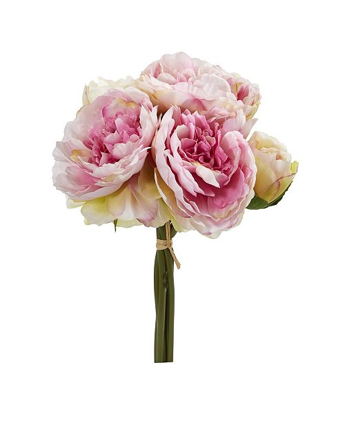 Nearly Natural Peony Bouquet Artificial Flower (Set of 6)