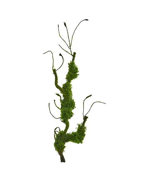 """Nearly Natural 25"""" Moss Twig Vine Artificial Plant (Set of 4)"""