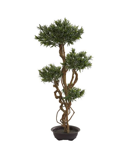 Nearly Natural 4.5' Bonsai Styled Podocarpus Artificial Tree