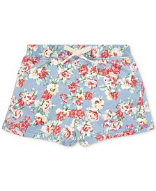 Polo Ralph Lauren Baby Girls Floral Cotton French Terry Shorts