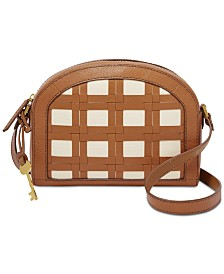 Fossil Chelsea Woven Leather Crossbody